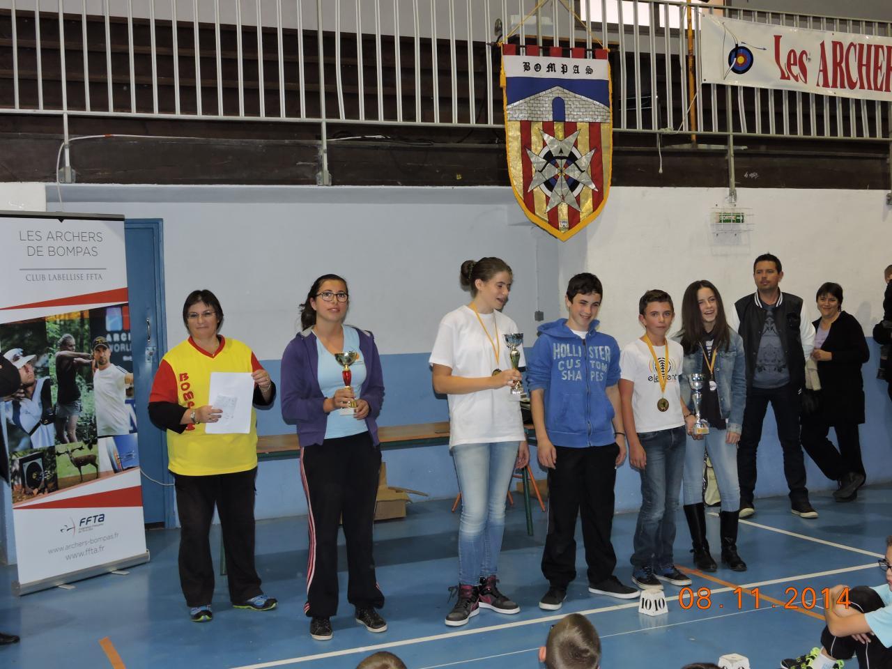 Podium par équipe Jeunes: Bravo!!