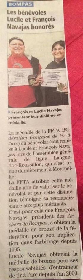 Médailles FFTA F + LN