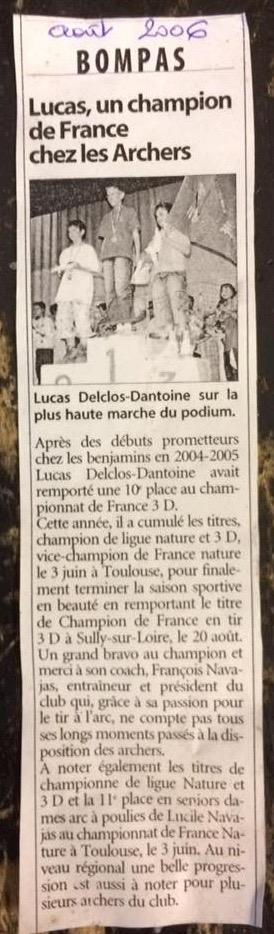 Champion de France 3D Lucas 08/2006