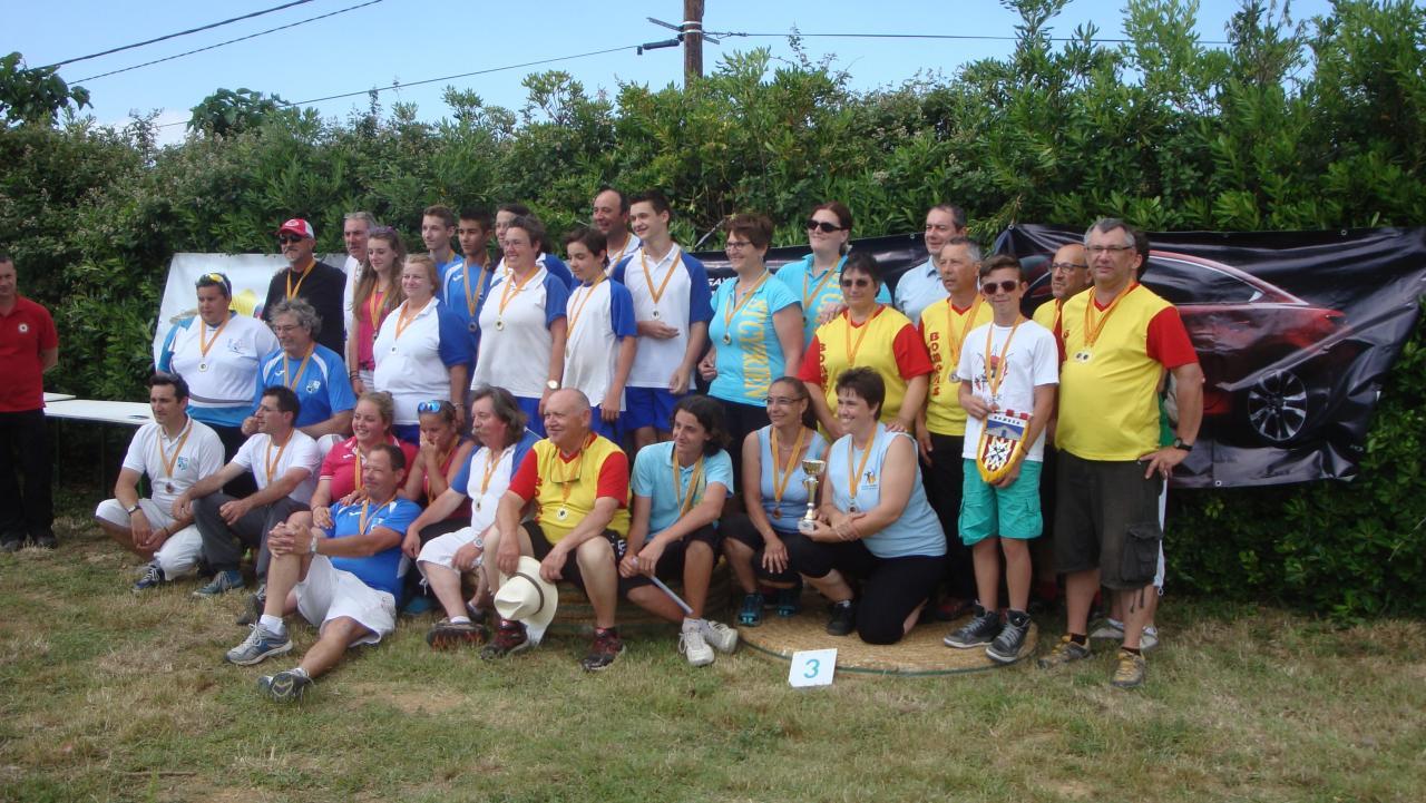 les médaillés du Chpt 66 Fédéral à Llupia (31/05/15)